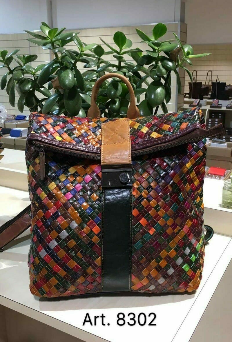 Emma Dore leather multi colour bag